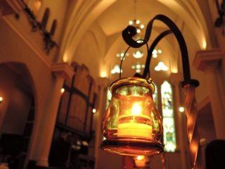 教会とキャンドル