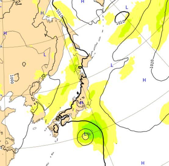 台風6号ヨーロッパ予想26日