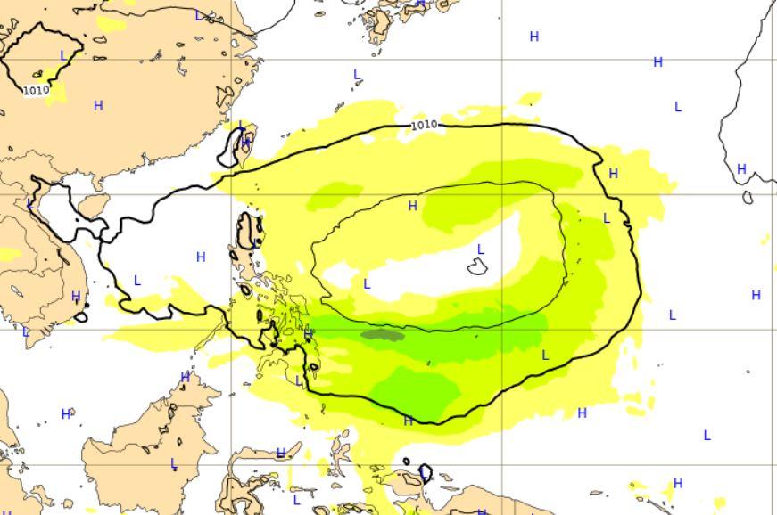 ECMWF熱帯低気圧9月12日予想